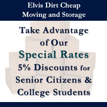 Take Advantage of Our Special Rates 5% Discounts for Senior Citizens & College Students